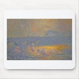 Tapis De Souris Pont de Waterloo par Claude Monet