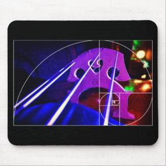 Tapis De Souris Pont en violoncelle et mousepad en spirale de