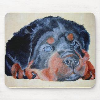 Tapis De Souris Portrait de chiot de rottweiler