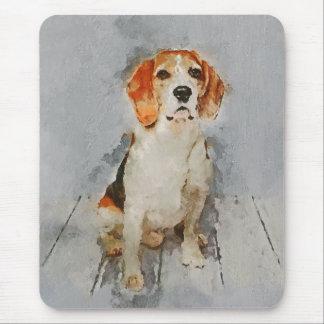 Tapis De Souris Portrait mignon de beagle