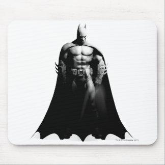 Tapis De Souris Pose large noire et blanche de la ville | Batman