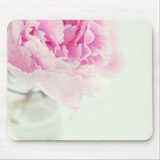 Tapis De Souris Pot de maçon rose vintage de pivoine