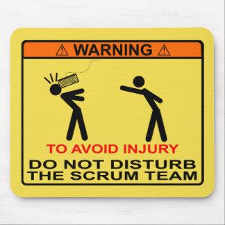Tapis De Souris Pour éviter la blessure, ne dérangez pas l'équipe