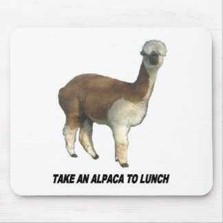 Tapis De Souris Prenez un alpaga au déjeuner