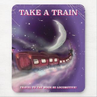 Tapis De Souris Prenez un train à l'affiche de bande dessinée de
