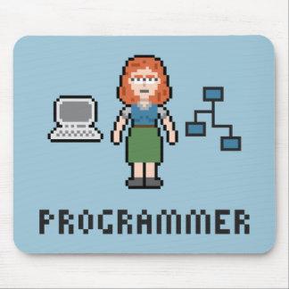 Tapis De Souris Programmeur féminin Mousepad de pixel