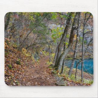 Tapis De Souris Promenade d'automne de moulin d'allée