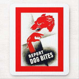 Tapis De Souris Rapportez les morsures de chien