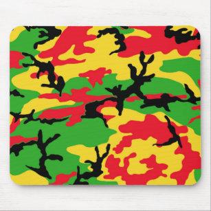 Tapis De Souris Rasta a coloré le camouflage