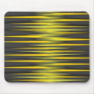 Tapis De Souris Rayures noires et jaunes
