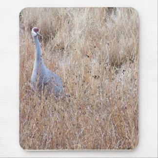 Tapis De Souris Refuge d'animaux de faune d'oiseaux de grue de