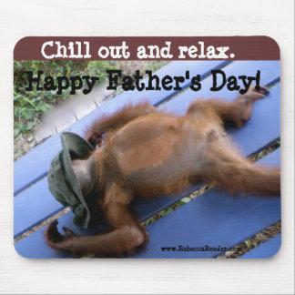 Tapis De Souris Relaxation heureuse de fête des pères
