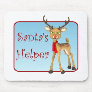 Tapis De Souris Renne Mousepad de vacances de l'aide de Père Noël