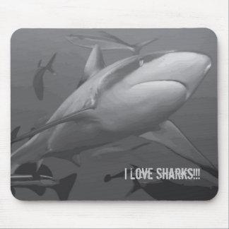 Tapis De Souris Requin de récif de la mer de corail Mousepad