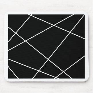 Tapis De Souris Résumé géométrique - blanc et noir