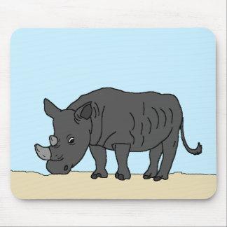 Tapis De Souris Rhinocéros dans la savane