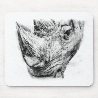 Tapis De Souris Rhinocéros en charbon de bois