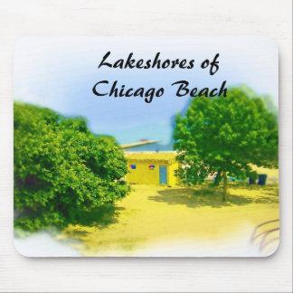 Tapis De Souris Rives d'un lac de la plage de Chicago