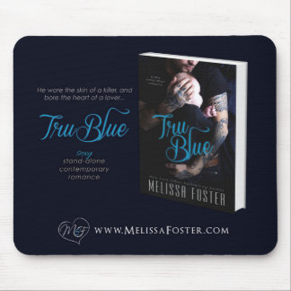 Tapis de souris Romance contemporain bleu de Tru