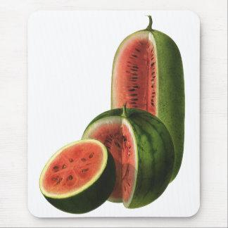 Tapis De Souris Rond grand de pastèques vintages, fruit d'aliment