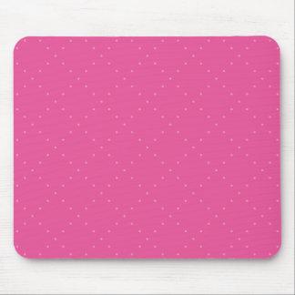 Tapis De Souris Rose avec le pois rose dans une grille de diamant