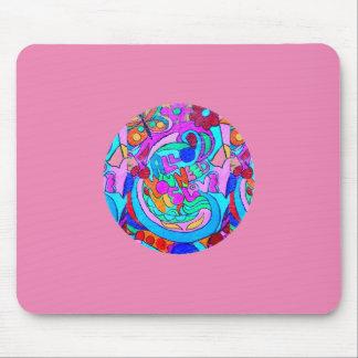 Tapis De Souris rose super hippie de cercle d'amour
