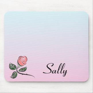Tapis De Souris Rose w/Pink de rose et couleurs bleues de gradient