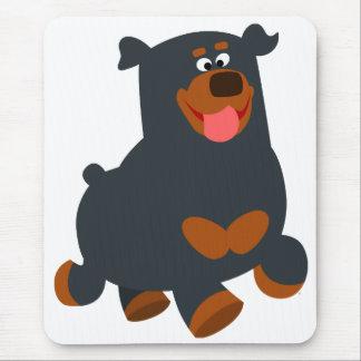 Tapis De Souris Rottweiler sautant mignon Mousepad de bande