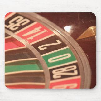 Tapis De Souris Roue de roulette de jeu de casino rétro Styl