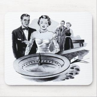 Tapis De Souris Roue de roulette de jeu de casino vintage de
