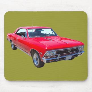 Tapis De Souris Rouge Chevy 1966 Chevelle solides solubles 396
