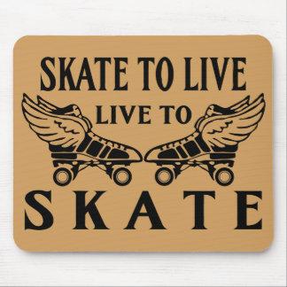 Tapis De Souris Rouleau Derby, patin à vivre, vivant pour patiner