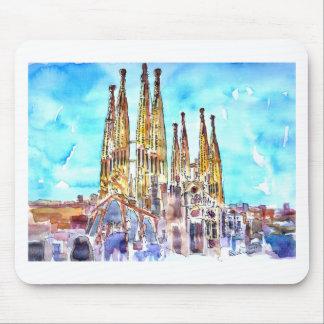 Tapis De Souris Sagrada Familia Barcelone