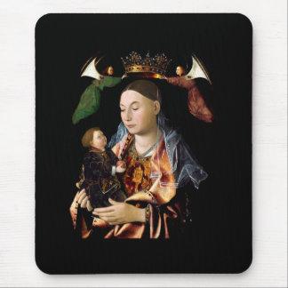 Tapis De Souris Salaison de Madonna et de l'enfant du Christ