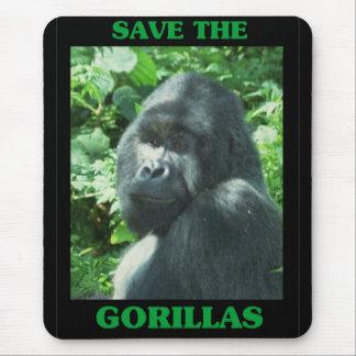 Tapis De Souris Sauvez les gorilles