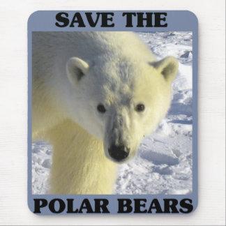 Tapis De Souris Sauvez les ours blancs