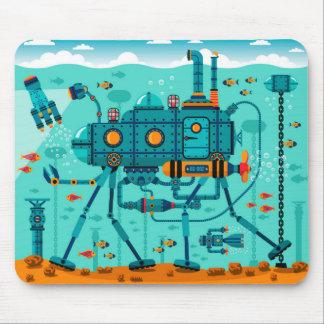 Tapis De Souris Scène sous-marine de robot coloré mignon