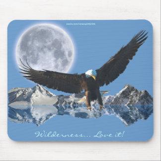 Tapis De Souris Série volante de Mousepad de montagnes et de lune