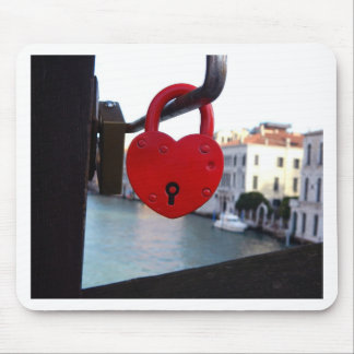 Tapis De Souris serrure d'amour à Venise