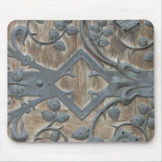 Tapis De Souris Serrure médiévale de fer sur la porte en bois