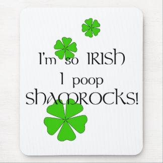 Tapis De Souris Shamrocks tellement irlandais de dunette d'I !
