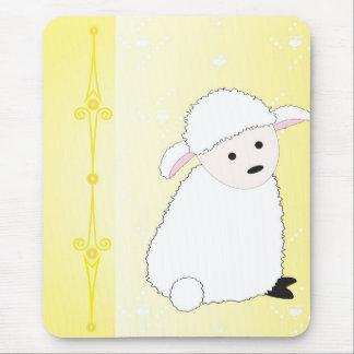 Tapis De Souris Sheepy sur le jaune
