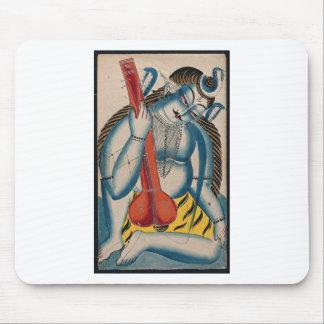 Tapis De Souris Shiva ivre tenant l'agneau