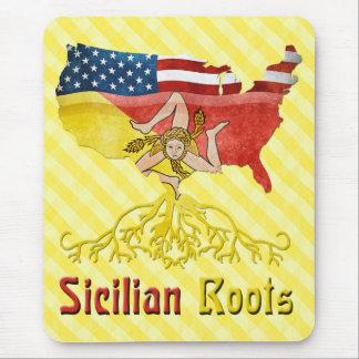 Tapis de souris sicilien américain de racines