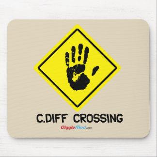 Tapis De Souris Signe de C. Diff Crossing