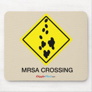 Tapis De Souris Signe de croisement de MRSA