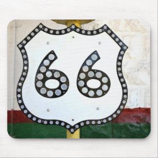 Tapis De Souris Signe de l'itinéraire 66