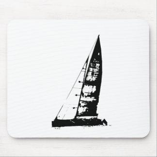 Tapis De Souris Silhouette de voilier
