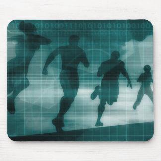 Tapis De Souris Silhouette Illustrati de logiciel de traqueur de
