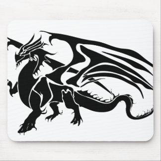 Tapis De Souris Silhouette noire de dragon